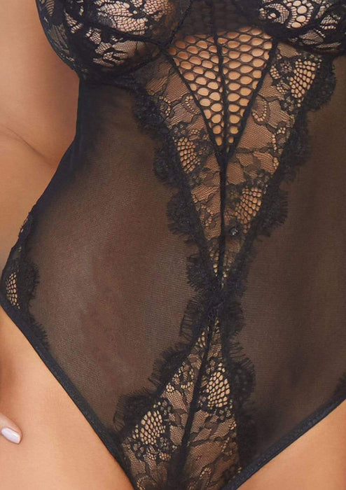 25% OFF | 2021 Best Deals |  lace and mesh teddy black medium