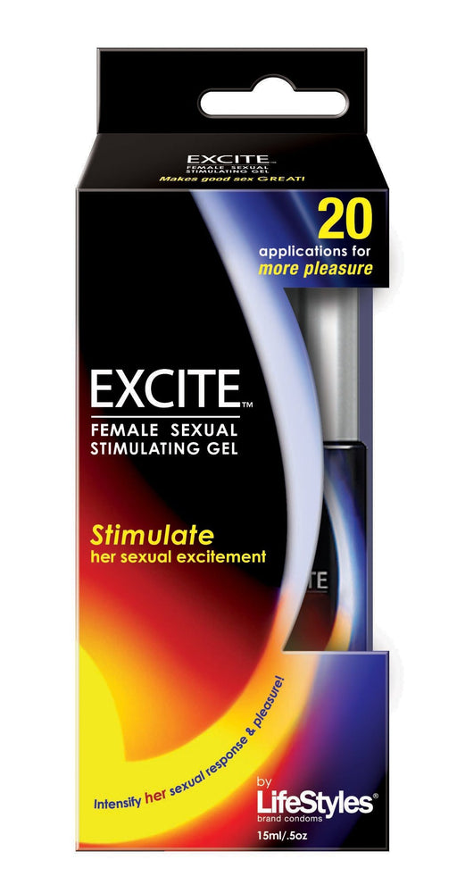 lifestyles excite female sexual stimulating gel 15 ml 0 5 oz