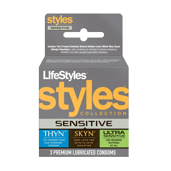 lifestyles styles sensitive 3 pack cheap sex toys