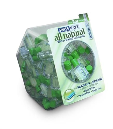 swiss navy all natural 100 count bowl 20ml bottles