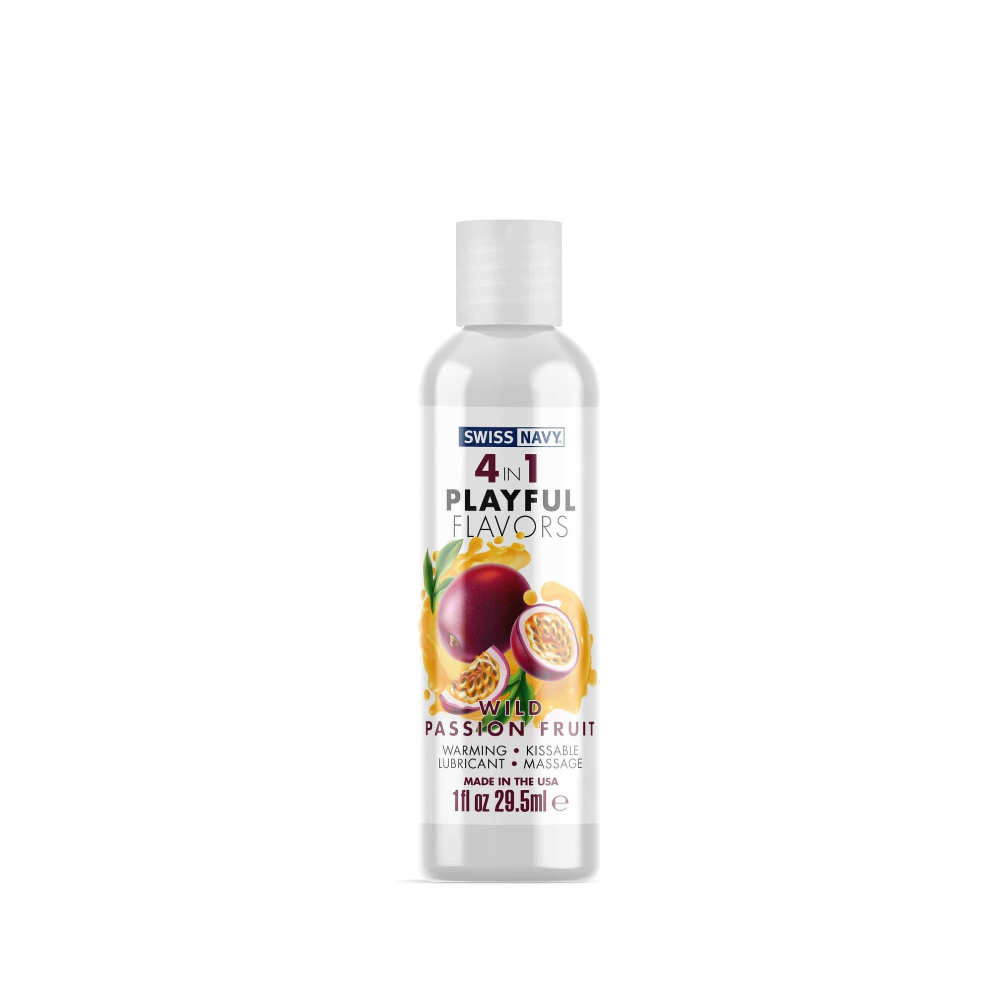 swiss navy 4 in 1 playful flavors wild passion fruit 1 fl oz