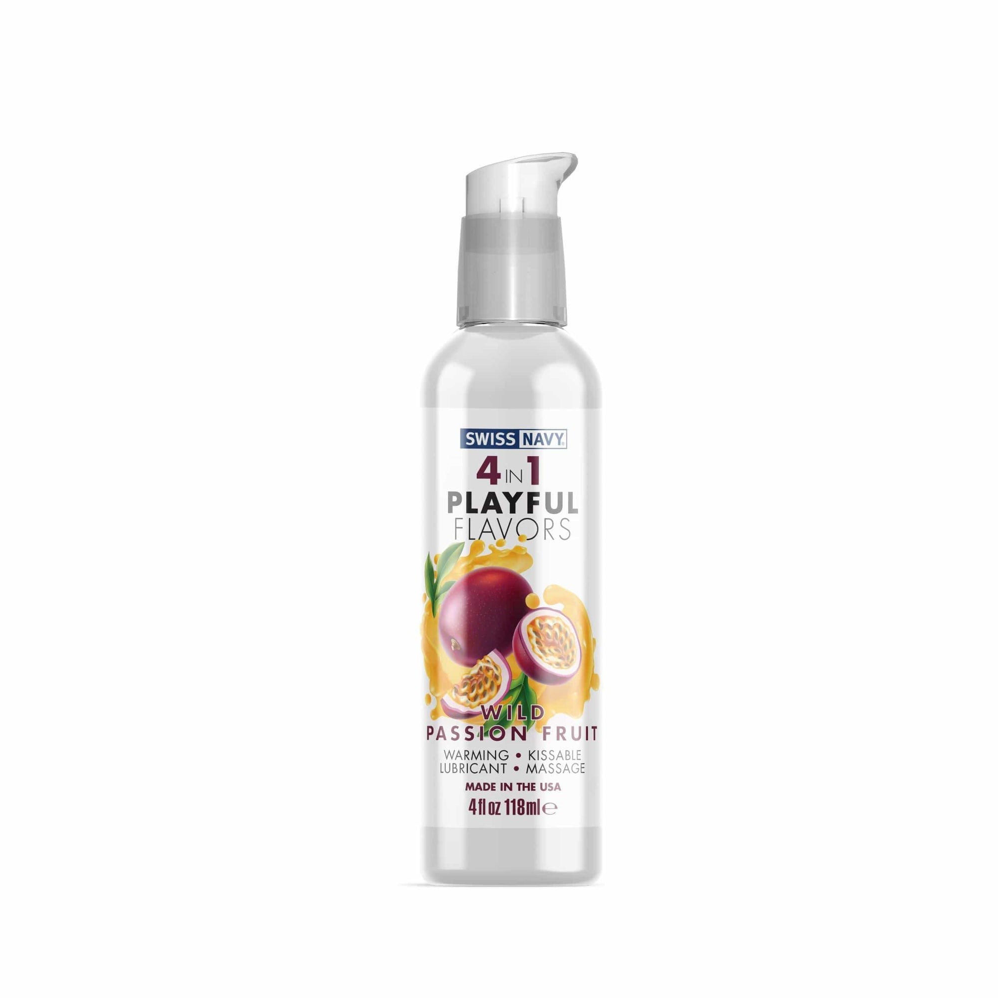 swiss navy 4 in 1 playful flavors wild passion fruit 4 fl oz