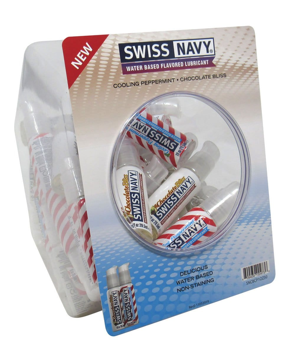 swiss navy chocolate and pepermint 1oz 50pc fishbowl
