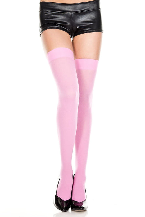 opaque thigh hi one size hot pink