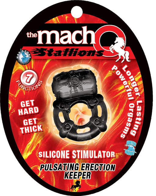 the macho stallions pulsating erection keeper black