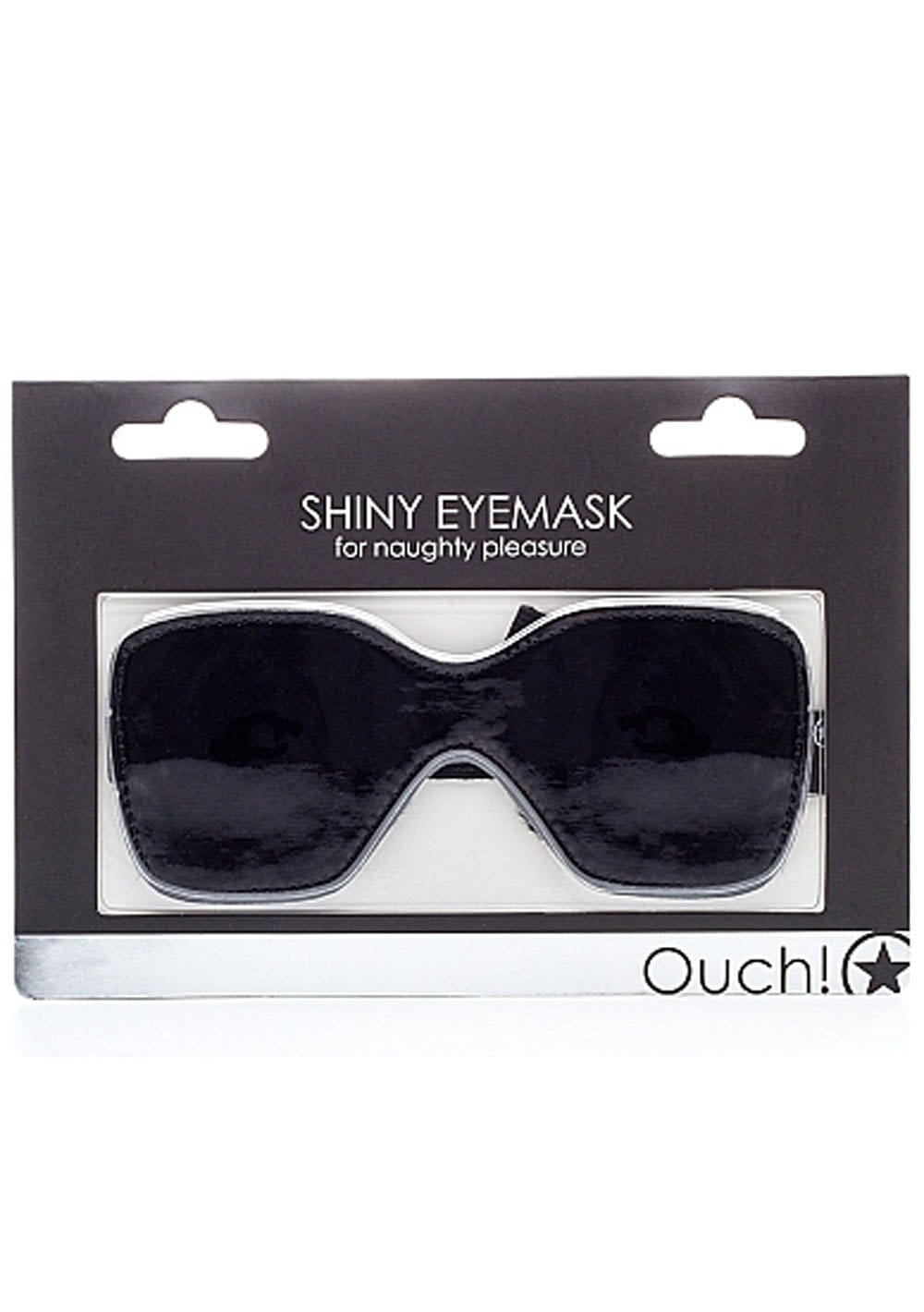 shiny eyemask for naughty pleasure black