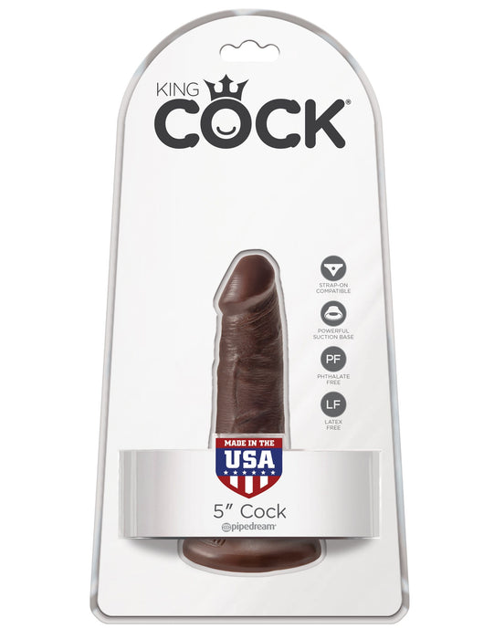 king cock 5 cock brown