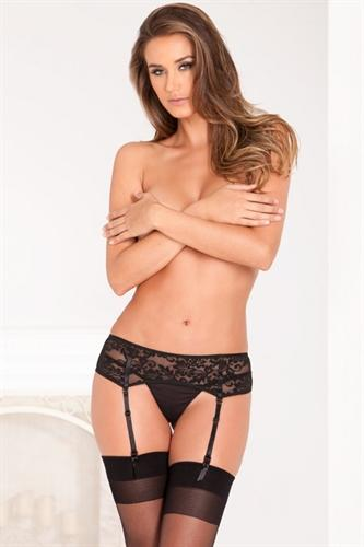 luxury lace garter belt medium large black