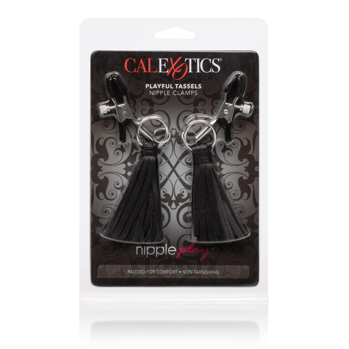 calexotics   nipple play playful tassels nipple clamps black