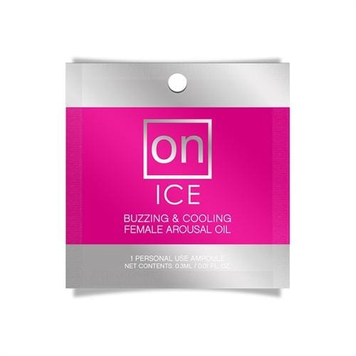 on ice buzzing cooling female arousal oil 0 01 oz ampoule