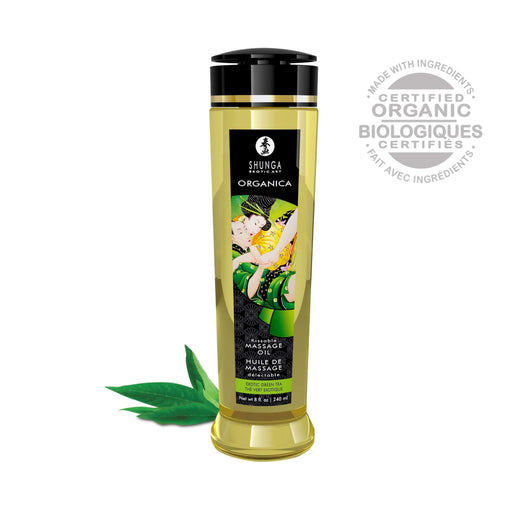 organica massage oils green tea 8 fl oz