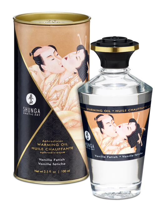 aphrodisiac warming oil vanilla fetish