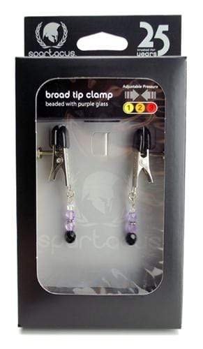 beaded clamps adjustable broad tip purple