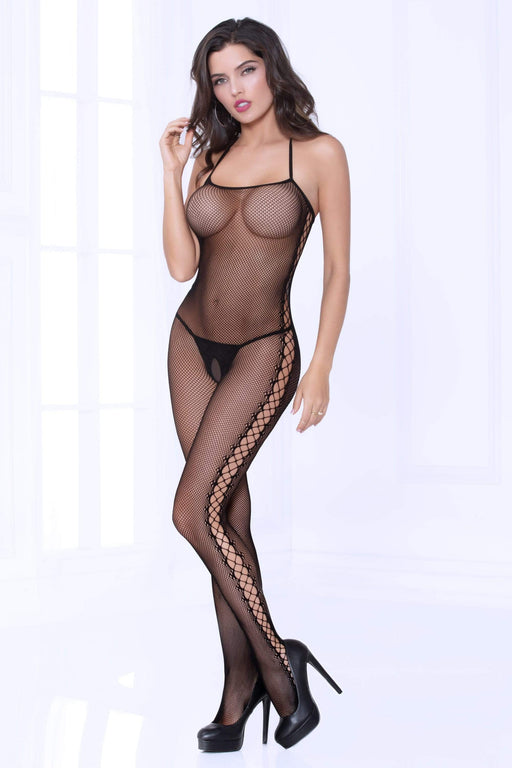 Lingerie Megastore fishnet chemise bodystocking one size black 1