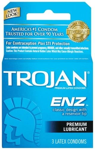 trojan enz lubricated 3 pack