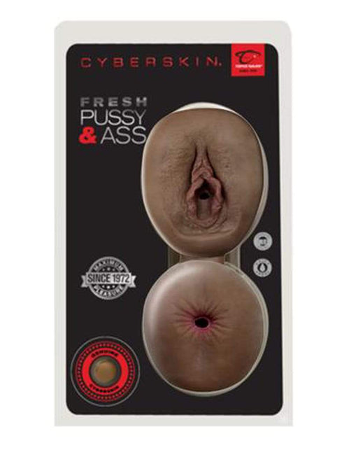 cyberskin fresh pussy and ass dark cheap sex toys