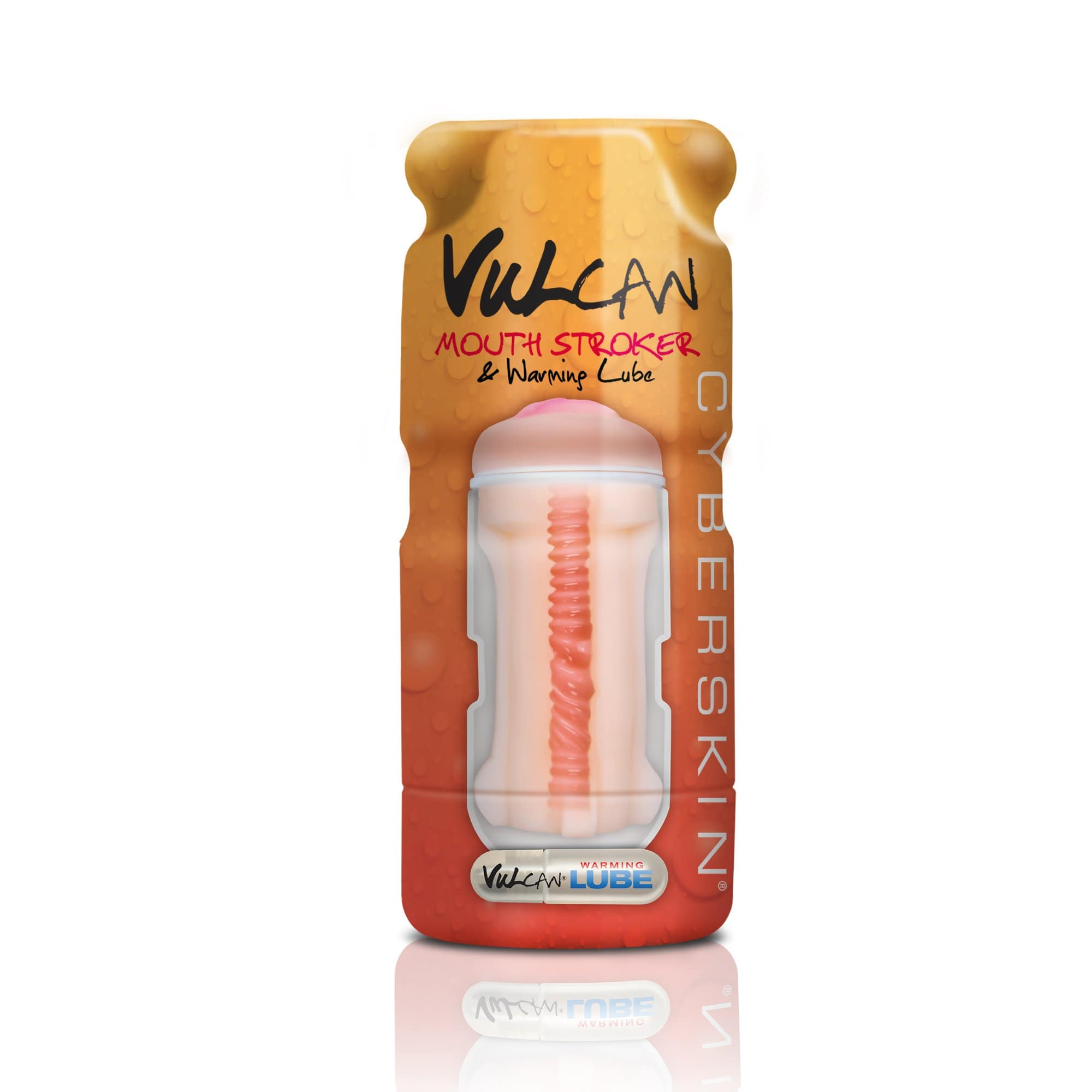vulcan cyberskin mouth stroker warming lube light