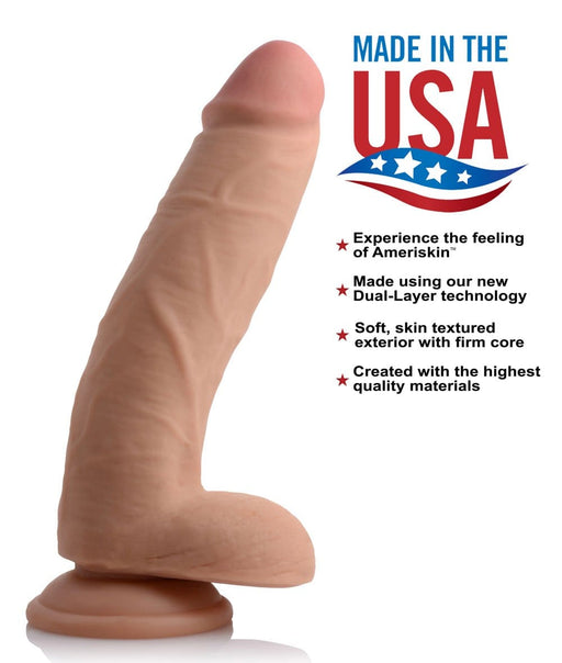 usa cocks 9 inch ultra real dual layer dildo flesh