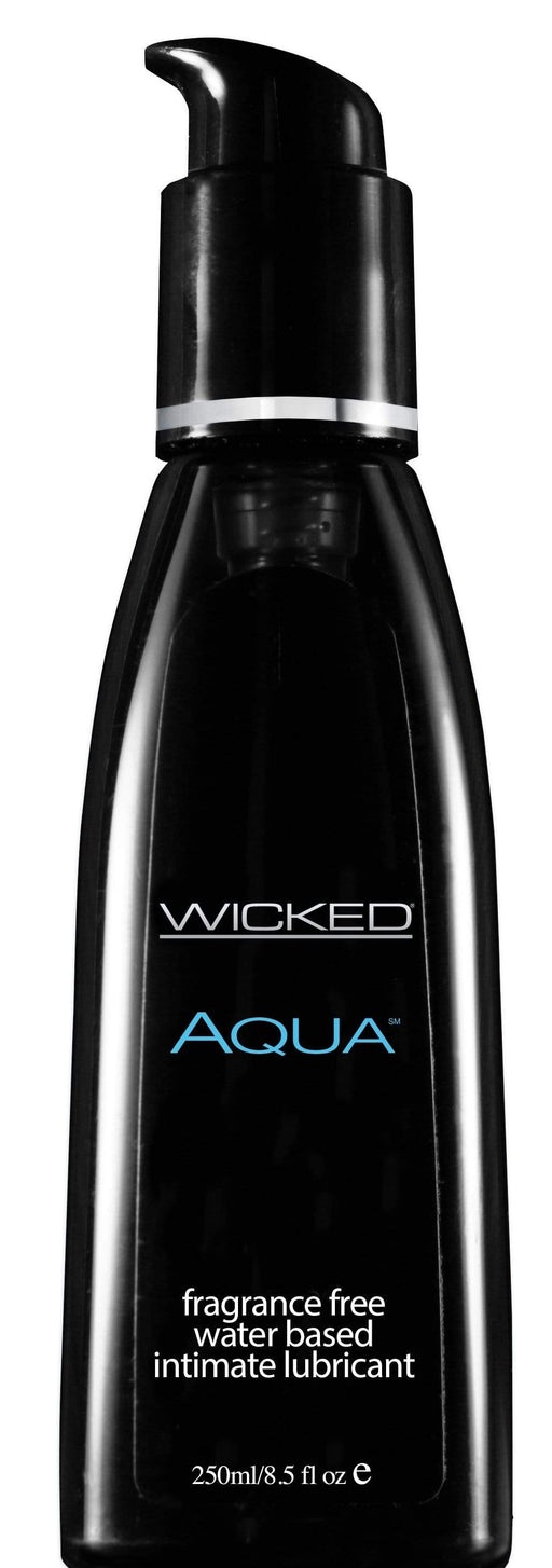 wicked aqua fragrance free water based lubricant 8 5 fl oz 250 ml
