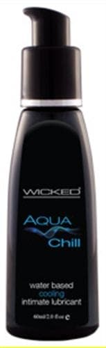 aqua chill water based cooling sensation lubricant 2 oz
