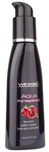 aqua pomegranate flavored water based intimate lubricant 2 oz