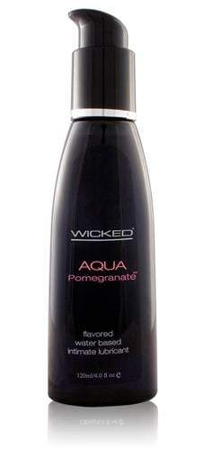 aqua pomegranate flavored water based lubricant 4 oz