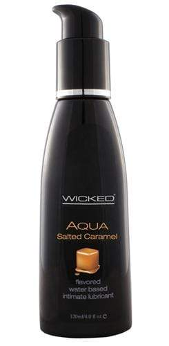 aqua salted caramel water based lubricant 4 oz