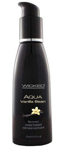 aqua vanilla bean water based lubricant 4 oz