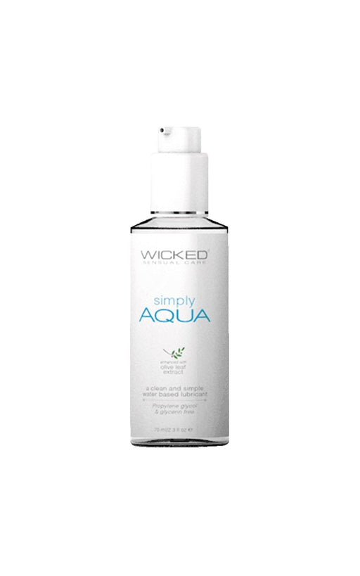 simply aqua fragrance free lube 2 3oz 70ml