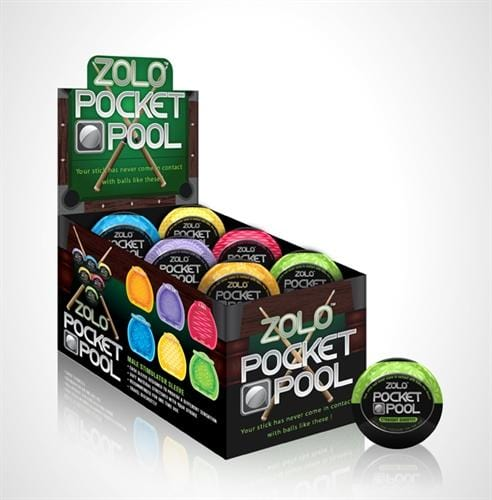 Zolo Cup   Pocket Pool   12 Pieces Display