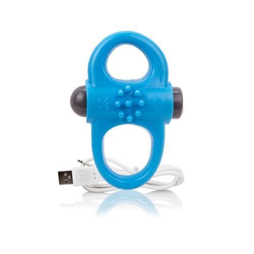 charged yoga rechargeable vibe ring blue