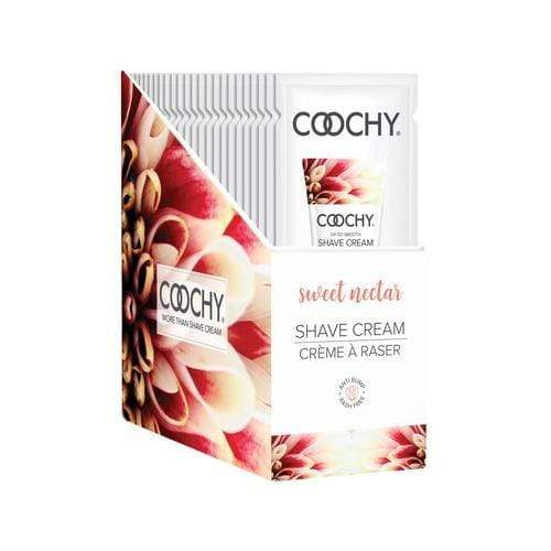 coochy shave cream sweet nectar 15 ml foils 24 count display