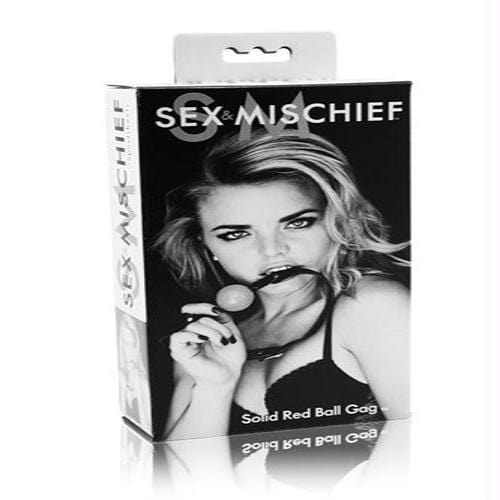 sex and mischief solid ball gag red