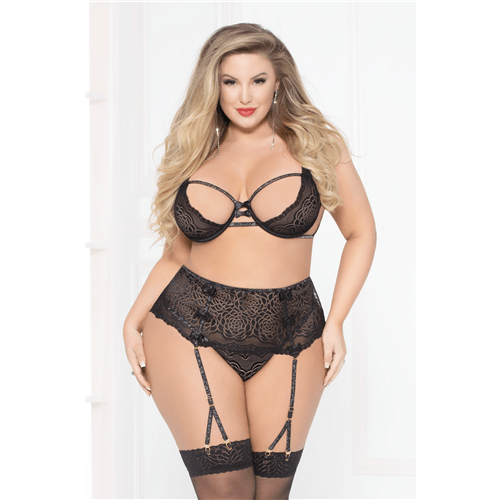 lace strappy bra set black 1x2x cheap sex toys