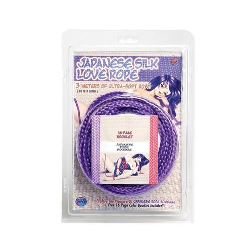 japanese silk love rope 10 ft 3m purple