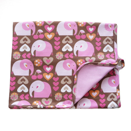 Babyfilt, Girly Elephant|Baby Blanket, Girly Elephant