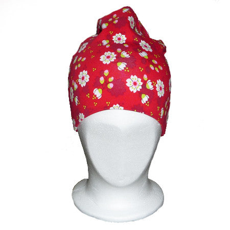 Barnmössa, Äppelblomster|Kids' Beanie Hat, Apple Blossoms