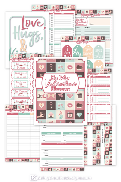 Be My Valentine Planner