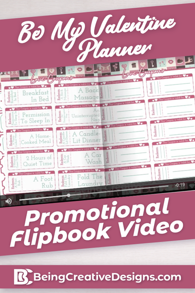 Be My Valentine Promotional Flipbook Video