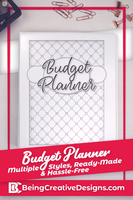 Black and White Budget Planner