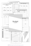 Budget Planner - Minimal Black and White