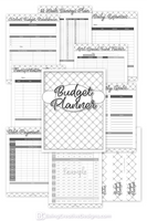 Budget Planner Black and White