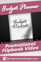 Budget Planner Promotional Flipbook Video - Black and White