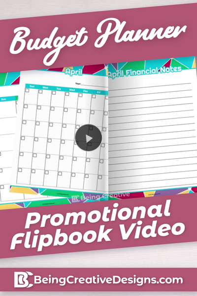 Budget Planner Promotional Flipbook Video - Bright