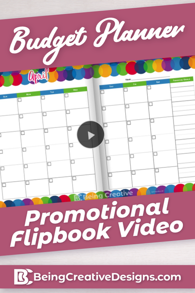 Budget Planner Promotional Flipbook Video - Colorful