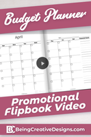 Budget Planner Promotional Video - Minimal Black and White