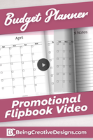 Budget Planner Promotional Video - Minimal Pink