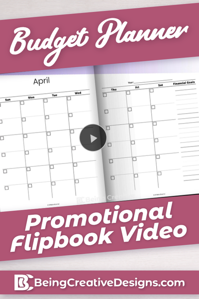 Budget Planner Promotional Video - Minimal Purple