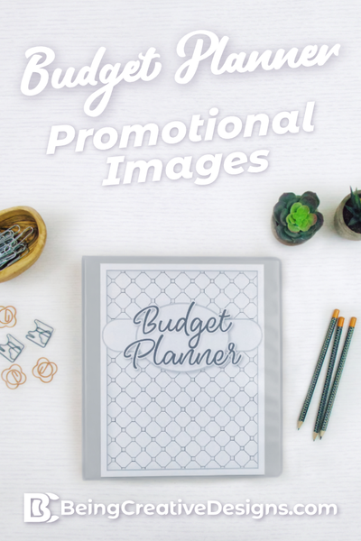 Budget Planner Promotional Mockups - Black and White