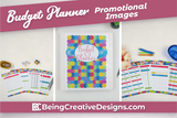 Budget Planner Promotional Mockups - Colorful